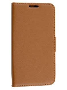 Motorola Moto G 3rd Gen Slim Synthetic Leather Wallet Case with Stand - Brown