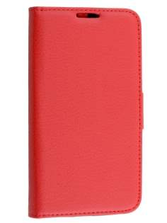 Motorola Moto G 3rd Gen Slim Synthetic Leather Wallet Case with Stand - Red