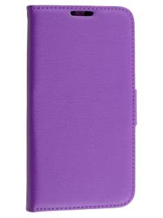 Slim Synthetic Leather Wallet Case with Stand for Motorola Moto G 3rd Gen - Purple