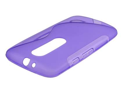 Motorola Moto G 3rd Gen Wave Case - Frosted Purple/Purple Soft Cover