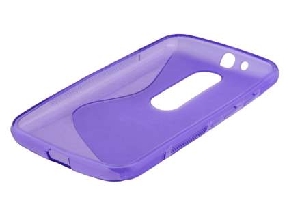 Wave Case for Motorola Moto G 3rd Gen - Frosted Purple/Purple