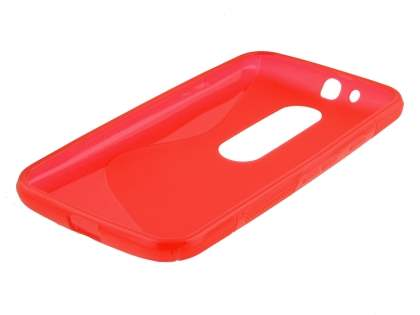 Motorola Moto G 3rd Gen Wave Case - Frosted Red/Red