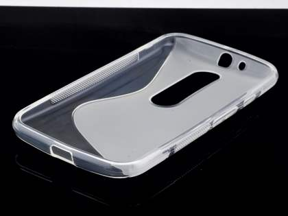 Wave Case for Motorola Moto G 3rd Gen - Frosted Clear/Clear