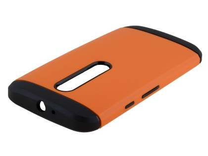 Motorola Moto G 3rd Gen Impact Case - Orange/Black Impact Case