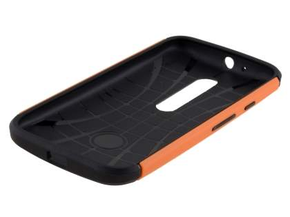 Motorola Moto G 3rd Gen Impact Case - Orange/Black