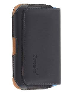 ZTE Telstra 4GX Buzz Synthetic Leather Belt Pouch (Bumper Case Compatible)