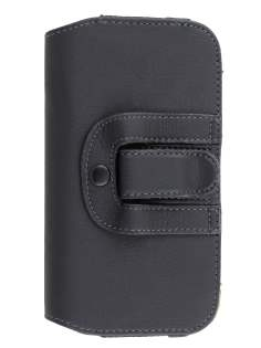 Synthetic Leather Belt Pouch for LG G2 - Classic Black