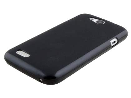 Frosted Colour TPU Gel Case for ZTE FIT 4G Smart - Classic Black