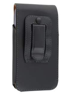 Smooth Synthetic Leather Vertical Belt Pouch for ZTE