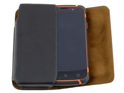 Extra-tough Genuine Leather ShineColours belt pouch for ZTE