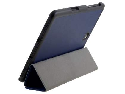 Premium Slim Synthetic Leather Flip Case with Stand for Samsung Galaxy Tab S2 8.0 - Dark Blue Leather Flip Case