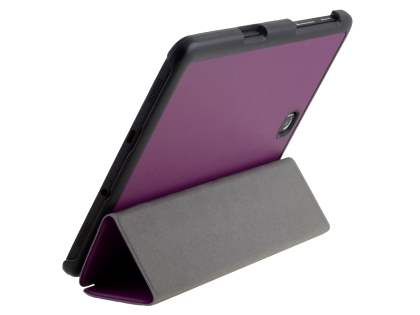 Premium Slim Synthetic Leather Flip Case with Stand for Samsung Galaxy Tab S2 8.0 - Purple