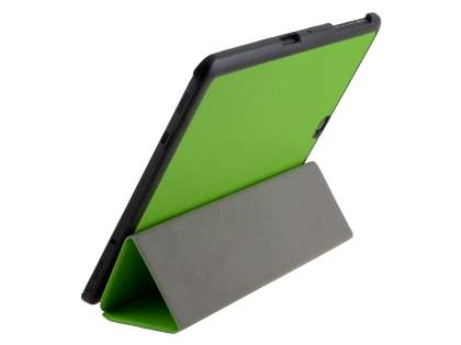 Premium Slim Synthetic Leather Flip Case with Stand for Samsung Galaxy Tab S2 9.7 - Green Leather Flip Case