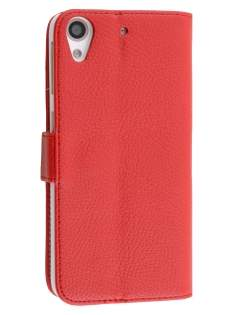 Synthetic Leather Wallet Case with Stand for HTC Desire 626/628 - Red