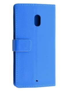 Slim Synthetic Leather Wallet Case with Stand for Motorola Moto X Play - Blue Leather Wallet Case
