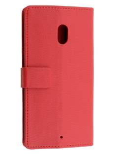 Slim Synthetic Leather Wallet Case with Stand for Motorola Moto X Play - Red Leather Wallet Case