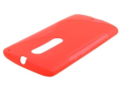 Wave Case for Motorola Moto X Play - Frosted Red/Red Soft Cover