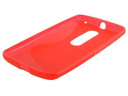 Wave Case for Motorola Moto X Play - Frosted Red/Red