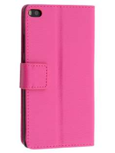 Synthetic Leather Wallet Case with Stand for Huawei P8 - Pink Leather Wallet Case