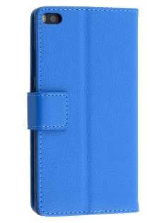 Synthetic Leather Wallet Case with Stand for Huawei P8 - Blue