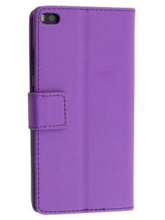 Synthetic Leather Wallet Case with Stand for Huawei P8 - Purple Leather Wallet Case