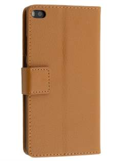 Synthetic Leather Wallet Case with Stand for Huawei P8 - Brown Leather Wallet Case