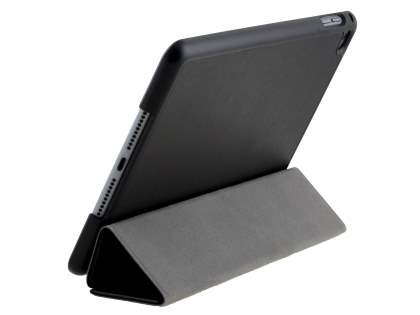 Premium Slim Synthetic Leather Flip Case with Stand for iPad mini 4 - Classic Black Leather Flip Case