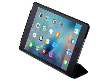 Premium Slim Synthetic Leather Flip Case with Stand for iPad mini 4 - Classic Black