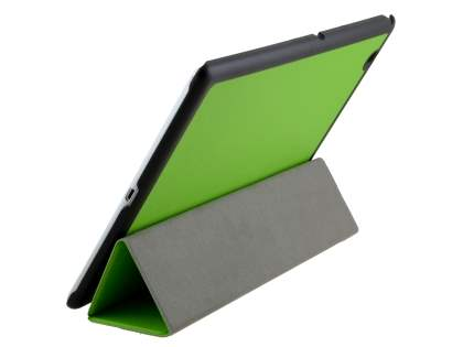 Premium Slim Synthetic Leather Flip Case with Stand for Sony Xperia Z4 Tablet - Green Leather Flip Case