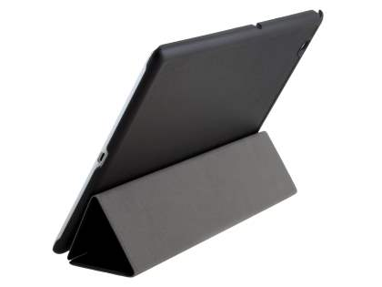 Premium Slim Synthetic Leather Flip Case with Stand for Sony Xperia Z4 Tablet - Classic Black Leather Flip Case