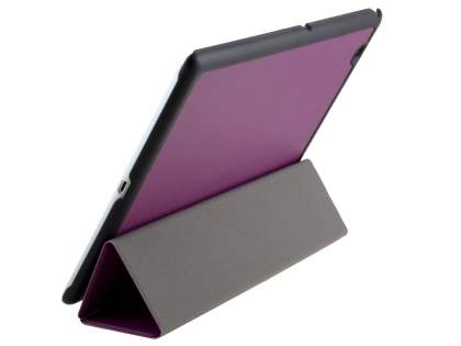 Premium Slim Synthetic Leather Flip Case with Stand for Sony Xperia Z4 Tablet - Purple Leather Flip Case