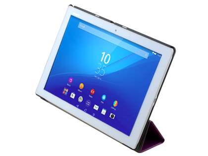 Premium Slim Synthetic Leather Flip Case with Stand for Sony Xperia Z4 Tablet - Purple