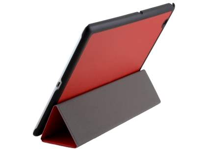 Premium Slim Synthetic Leather Flip Case with Stand for Sony Xperia Z4 Tablet - Red Leather Flip Case