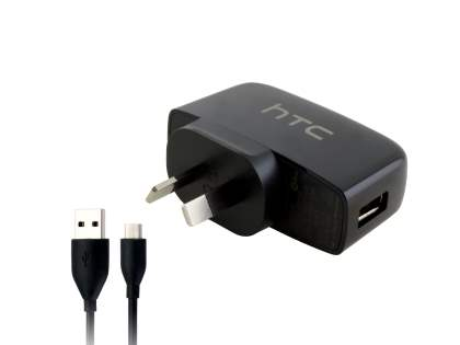 Genuine HTC TC P450 3-in-1 Sync Cable, AC & USB Charger - Black AC Wall Charger