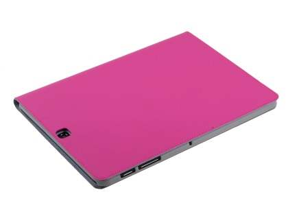 Premium Genuine Leather Slim Portfolio Case with Stand for Samsung Galaxy Tab S2 9.7 - Pink