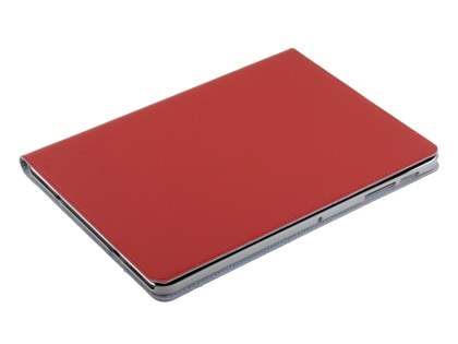 Premium Slim Genuine Leather Portfolio Case with Stand for Samsung Galaxy Tab S2 9.7 - Red