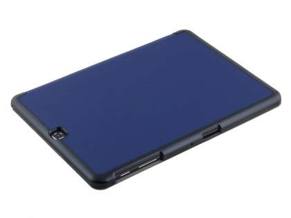 Premium Slim Synthetic Leather Flip Case with Stand for Samsung Galaxy Tab S2 9.7 - Dark Blue