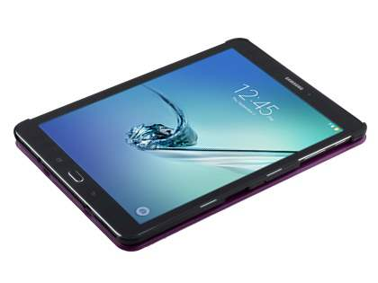 Premium Slim Synthetic Leather Flip Case with Stand for Samsung Galaxy Tab S2 9.7 - Purple