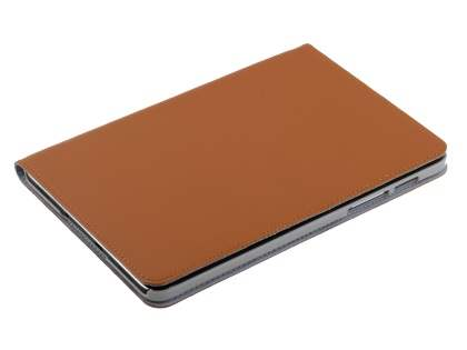 Premium Slim Genuine Leather Portfolio Case with Stand for Samsung Galaxy Tab S2 8.0 - Brown
