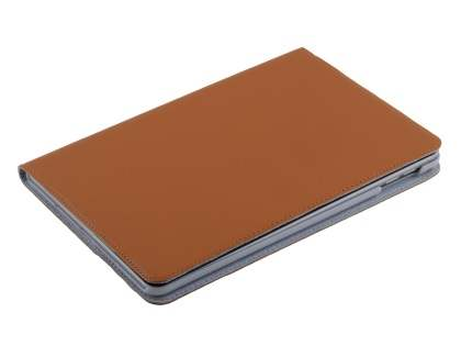 Premium Genuine Leather Portfolio Case with Stand for iPad mini 4 - Brown