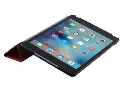 Premium Slim Synthetic Leather Flip Case with Stand for iPad mini 4 - Red