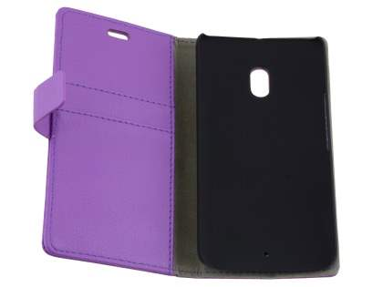 Slim Synthetic Leather Wallet Case with Stand for Motorola Moto X Play - Purple