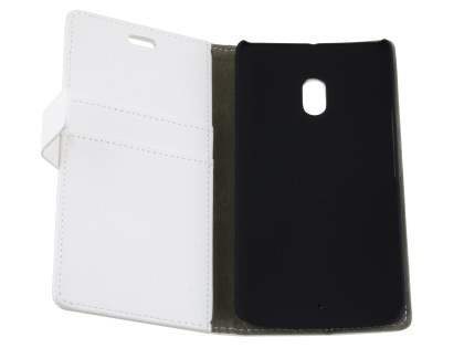 Slim Synthetic Leather Wallet Case with Stand for Motorola Moto X Play - Pearl White
