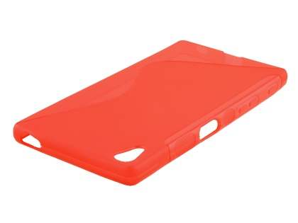 Wave Case for Sony Xperia Z5 - Frosted Red/Red
