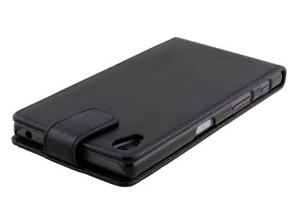 Synthetic Leather Flip Case for Sony Xperia Z5 - Classic Black