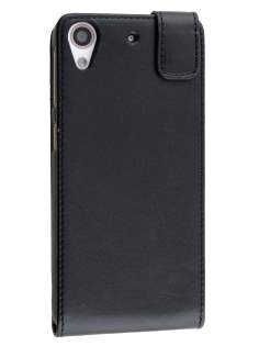Synthetic Leather Flip Case for HTC Desire 626/628 - Black Leather Flip Case