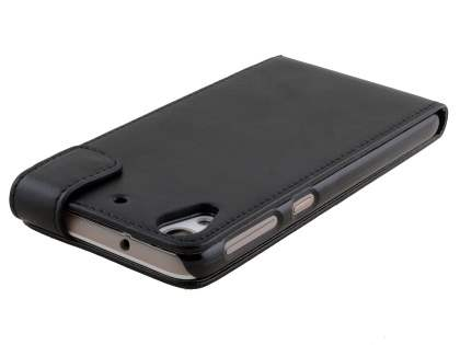HTC Desire 626/628 Synthetic Leather Flip Case - Black