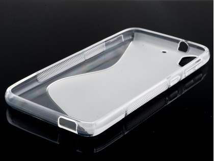 Wave Case for HTC Desire 626/628 - Frosted Clear/Clear