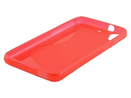 Wave Case for HTC Desire 626 - Frosted Red/Red
