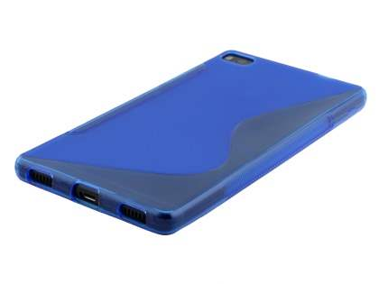 Wave Case for Huawei P8 - Frosted Blue/Blue